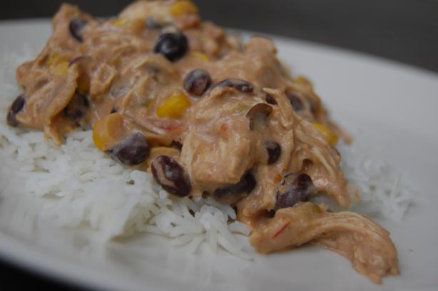 Easy Crock Pot Chicken (with black beans and salsa) Recipe
